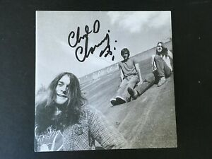 CHAD CHANNING - NIRVANA BAND MEMBER - SIGNED ' BLEACH ' CD INSERT