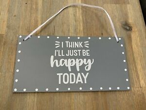 Lovely Shabby Chic Country Hanging Sign With Vinyl