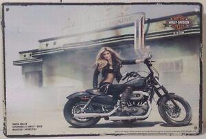 MOTOR BIKE Tin Metal Sign Rustic Look .. MAN CAVE . brand new. AU SELLER
