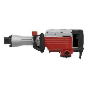 Sealey 1600W Demolition Breaker Hammer Trigger Lock Point & Flat Chisel