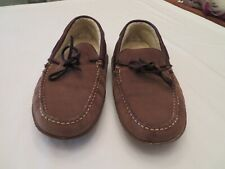 WOMEN'S L.L. BEAN SLIPPERS, MOCASSINS OR DRIVING SHOES BROWN LEATHER W/ LINING 9