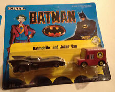 JOKER VAN & BATMOBILE BATMAN 1989 ERTL DIECAST FIGURES METAL FIGURINES