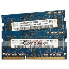 4GB(2x2GB) DDR3 Laptop Ram Hynix PC3 1Rx8 12800S