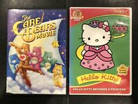 The Care Bears Movie & Hello Kitty Becomes A Princess DVD Lot Of 2 - Very Good
