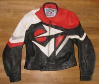 UVEX Herren- Kombi- Motorrad- Lederjacke / Jacke schwarz weiß rot ca. Gr. 48/50