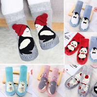 Babyschuhe Socke Erstlings Krabbelschuhe Gefüttert Kinder Anti Rutsch Hausschuhe
