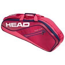 Head Tour Team 3 racquet racket tennis bag - Fluorescent Red - Authorized Dealer