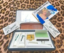 FRENCH 1970s MEN TRAVEL GROOMING & SHAVING KIT ~ MADE IN FRANCE ~UNUSED VINTAGE