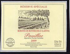 BORDEAUX ETIQUETTE RESERVE SPECIALE DES BARONS DE ROTHSCHILD 2009   §06/03/17§