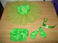 """Ballet Ballerina Tutu Panty Slippers Lime Green for 15-18"""" Cpk Cabbage Patch Kid"""
