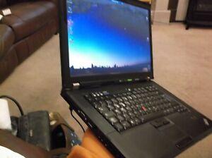 Thinkpad T500 Laptop 2.40 GHz Core 2 Duo 2GB RAM 128GB SSD  - Classic!