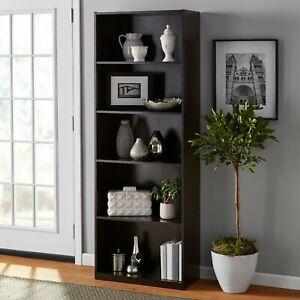 "Shelf Bookcase Mainstays 71""5 Espresso"