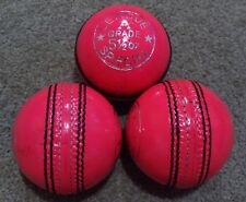2x PINK Cougar 4 Piece LEAGUE SPECIAL Training Quality Cricket Ball - Oz Stock