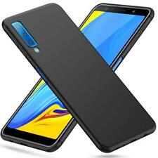 For Samsung Galaxy A7 (2018) Case Slim Soft Silicone Gel Cover - Matte Black