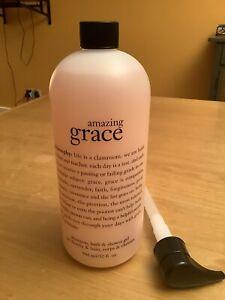 Philosophy Amazing Grace Shampoo, Bath & Shower Gel 946ml NEW with Pump. Sealed