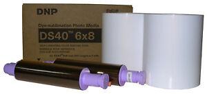 """DNP DS40 6X8"""" Media Kit (DS40PK68), 2 rolls of paper & ribbon per box, 400 print"""
