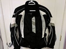 Castle X Rider Reissa Hitena Black White Silver Motorcycle Jacket Small