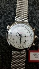Krug Baumen 100400DM Mens Air Explorer Diamond Limited Edition Mesh Chrono Watch