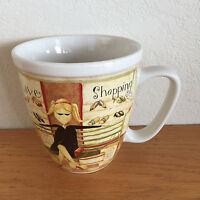 "I Love Shopping  Coffee Mug   'These Shoes... '   Dan DiPaolo  Lang    4 1/2"""