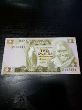 🇿🇲  Zambia Twenty 2 Kwacha 1980 - 1988 P-24 Currency Banknote Money  UNC