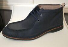 Andrew Marc Men's Chukka Boots Dorchester Moc Toe Mid Cut Navy Suede Shoes 10.5
