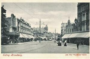 Early EALING BROADWAY  LONDON  Wyndham Postcard