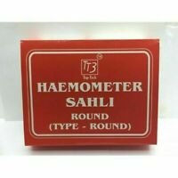 Pack of 1 Haemometer Sahli Plano paralal Round  Fast Shipping