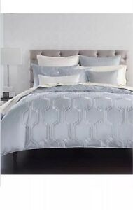 New Hotel Collection Marquesa Blue Embroidery Full/Queen Duvet Cover