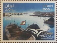 Lebanon 2015 MNH stamp EUROMED Joint issue - Fishing Boats of the Mediterrannean