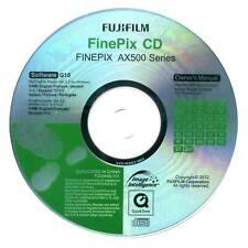 Fujifilm Finepix AX500 Series Digital Camera CD Software & Manual Disk