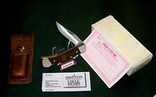 Schrade LB5 Knife Uncle Henry Lockback USA Circa-1980's W/Package & Loss Cert