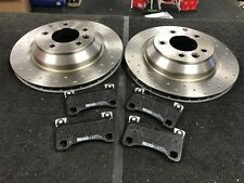 PORSCHE CAYENNE 4.8 TURBO S VW TOUAREG BRAKE DISCS CROSS DRILLED REAR 358 & PADS