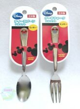 Disney Mickey Mouse Stainless Steel Tea Spoon and Cake Fork Made in JAPAN