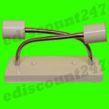 ES E27 TUBO cerámica lámpara titular blanco techo pared Rosa Plata Caja LED