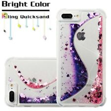Apple iPhone 6 6s Plus Bling Hybrid Liquid Glitter Rubber Protective Case Cover