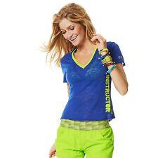 2 Pcs Zumba Fitness Instructor Outfits V Neck Tee Top S + Cargo Capris XS EUC