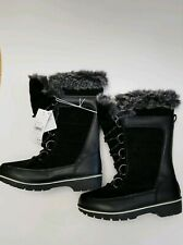 NEW Women's Size 6 Black Faux Fur Lined Lace-Up Winter Fashion Boots Champion