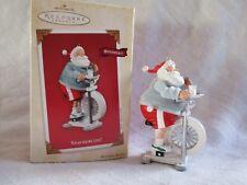 2003 Hallmark Keepsake Ornament Snackercize! Santa Claus Exercise Bike