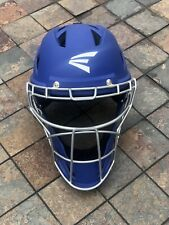 EASTON M7 CATCHERS HELMET - ROYAL BLUE, SIZE LARGE - Never Used See Pictures