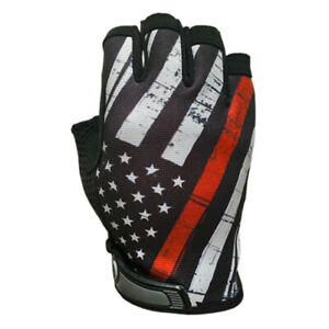 Industrious Handwear IH-RL-XLG Red Line Flag Unlined Half Finger Gloves