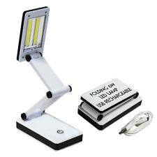 Study Lamp 6W Bright COB LED USB Rechargeable Folding Desk Table Reading Light