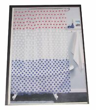 India Ink Americana Patriotic Shower Curtain Red White Blue Stars