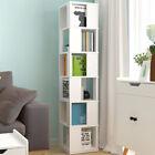 6+Tier+Corner+Cabinet+Shelf+Cupboard+Storage+Living+Room+Bedroom+Decorate+White
