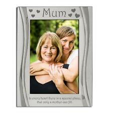 Mum, Mother, Photo Frame, Silver Plated, Velvet Backed, 4 x 6 Inch