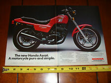 1982 HONDA FT500 ASCOT - ORIGINAL 2 PAGE AD