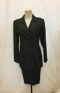 Authentic BURBERRY'S OF LONDON Charcoal Gray Skirt Suit Jacket 6/ Skirt 10 NWT