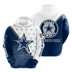 New Dallas Cowboy Hoodie Men Sports Sweatshirt Pullover Football Hooded Jacket