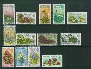 FALKLANDS (324) 1971 SG263-75 FLOWERS FLORA  SET OF 13 VERY FINE MOUNTED MINT