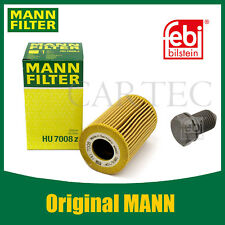 ORIGINAL MANN Ölfilter HU 7008Z + FEbi Ölablassschraube