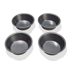 4 x PIE Baking Tins 12cm x  4cm Pies Tarts Cookware Baking Tins Pans x 4